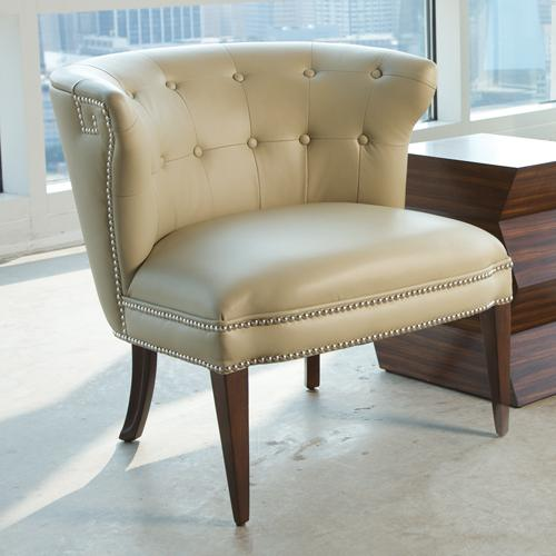 Hermes Accent Chair Beige Leather   Home And Office Furniture | Free  Shipping