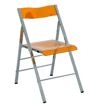 Charming Clarity Acrylic Folding Chairs   (Set Of 2)