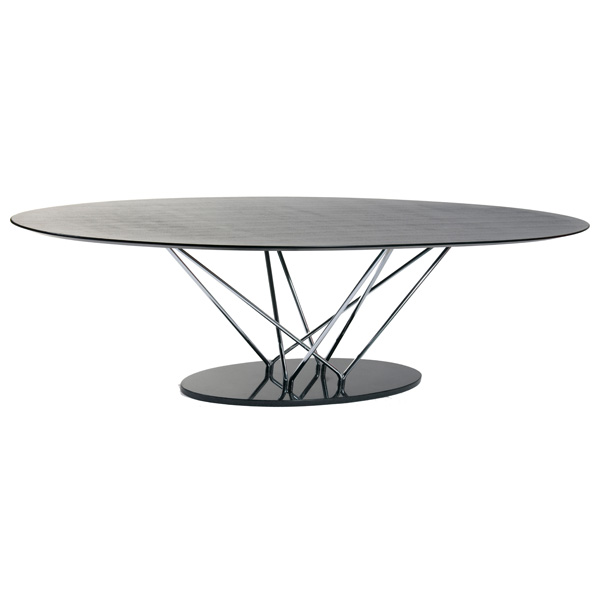 Oval Dining Table With Marble Base