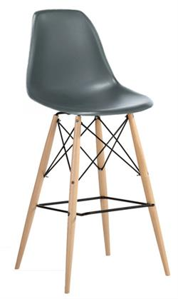 Molded Plastic Counter Stool With Dowel Legs